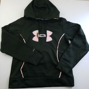 Under Armour Womens Size Large Pink Black Camo